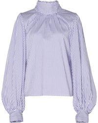 Thierry Colson Teresa Stripe Cotton Silk Blend Blouse - Multicolour