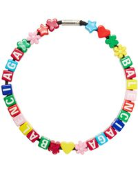 Balenciaga Toy Beaded Choker - Multicolour