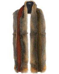 J. Mendel - Two Toned Fur Stole - Lyst