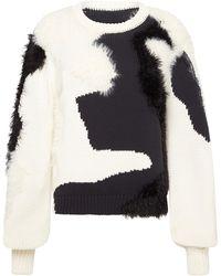 Aje. Dominique Wool-silk Jacquard-knit Jumper - Black