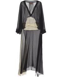Albus Lumen Trio Solio Draped Silk Dress - Black