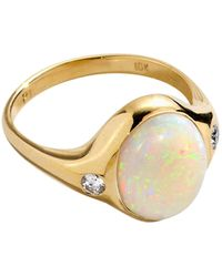 Pamela Love Essential 10kt Yellow-gold, Opal And Diamond Ring - Metallic
