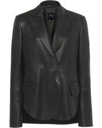 Akris Denada Leather Blazer - Green