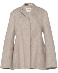 Jil Sander Oversized Wool-blend Felt Blazer Jacket - Gray