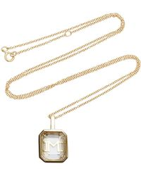 Mateo - M'onogram White Crystal Initial Necklace - Lyst