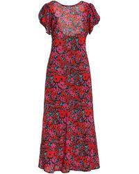 RIXO London Reese Floral-print Silk Dress - Red