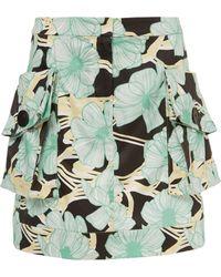 Claudia Li - Patch Pocket Mini Skirt - Lyst