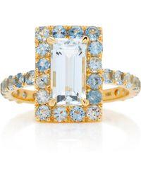 Yi Collection - 18k Gold Aquamarine Ring - Lyst