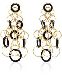 Buccellati Hawaii 18k Gold And Onyx Earrings - Black