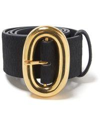 Lizzie Fortunato Calf Hair Icon Belt - Black