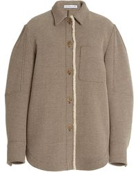 Rejina Pyo Kinsey Shearling-trimmed Wool-twill Jacket - Brown
