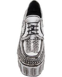 Prada Woven Platform Loafers - White
