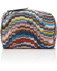 Missoni Toiletry Mini Crochet-knit Bag - Multicolour