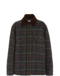 Blazé Milano Berber Checked Wool Shirt Jacket - Multicolour