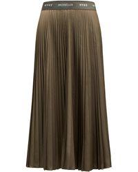 Moncler Genius 4 Moncler Hyke Pleated Ripstop Midi Skirt - Green
