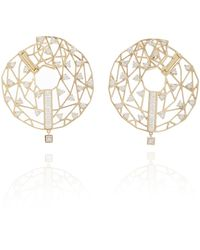 Hueb Gold And Diamond Earrings - Metallic