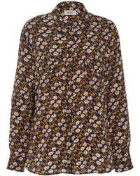 Blazé Milano Orthilia Floral Printed Silk Shirt - Multicolour