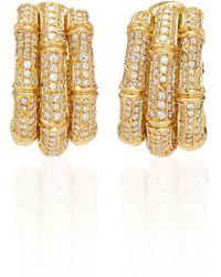 Cartier - Bamboo Diamond Earrings - Lyst