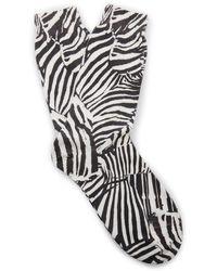 Missoni Zebra-print Crochet-knit Cashmere Socks - Black