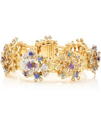 Mimi So - 18k Gold, Sapphire And Diamond Bracelet - Lyst