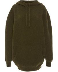Victoria Beckham Wool-blend Oversized Hoodie - Green