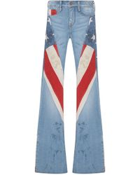 Tre by Natalie Ratabesi Marianne High-rise Patchwork Wide-leg Jeans - Blue