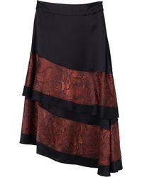 By Malene Birger Arles Two-tone Satin Skirt - Black