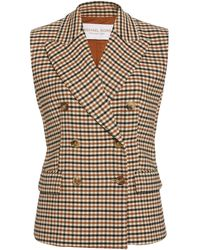 Michael Kors Double-breasted Gabardine Vest - Multicolour