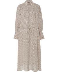 JOSEPH - Evie Silk Midi Dress - Lyst