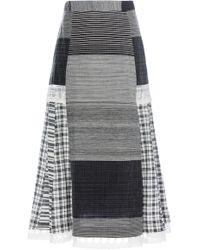 Rahul Mishra - Cotton And Silk-blend Plaid Skirt - Lyst