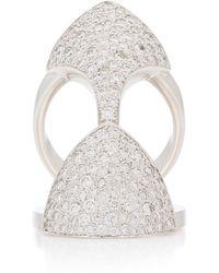 Akillis Python Armor 18k Gold Diamond Ring - White