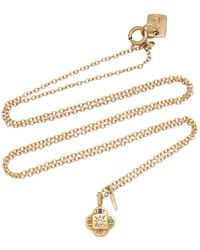 Scosha Endless Knot 10k Gold And Multi-stone Necklace - Metallic