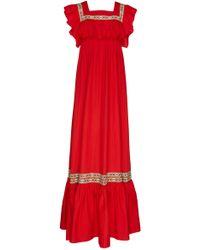 Stella Jean | Ruffle Maxi Dress | Lyst