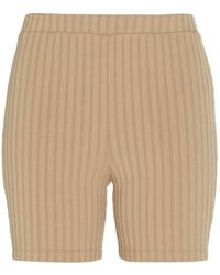 Maggie Marilyn Long Story Short Camel Shorts - Natural