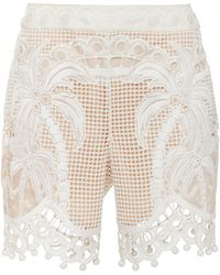 Zimmermann Brightside Palm Shorts - White