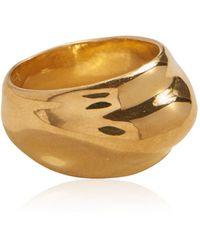 Pamela Love Dome 14k Gold-plated Ring - Metallic