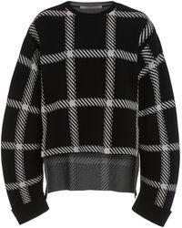 Stella McCartney Oversized Clean Lumberjack Checked Knit Jumper - Black