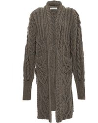 Nellie Partow - Jay Cable Hand Knit Cardigan - Lyst