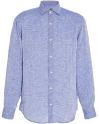 Frescobol Carioca - Slim-fit Linen Button-up Shirt - Lyst