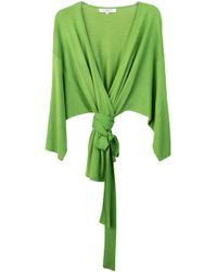Tuinch - Oversized Cashmere-blend Wrap Top - Lyst
