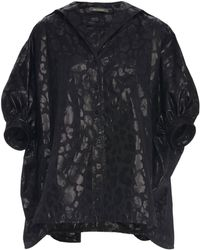 Zac Posen - Leopard Jacquard Puff Sleeve Blouse - Lyst