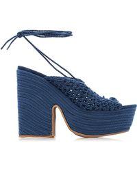 Jacquemus Crochet Platform Sandals - Blue