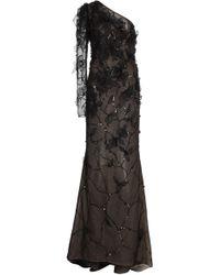 J. Mendel - Embellished Organza One-shoulder Gown - Lyst