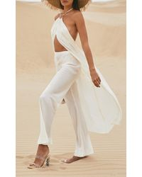 Cult Gaia Sarah Long Crepe Halter Top - White