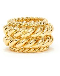 ISABEL LENNSE Twisted Spin Gold-plated Ring - Metallic
