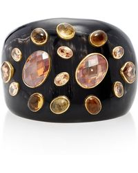 Ashley Pittman - Dola Horn, Orange Zircon And Tourmaline Cuff - Lyst