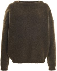 Acne Studios Dramatic Stretch-wool Knitted Top - Green