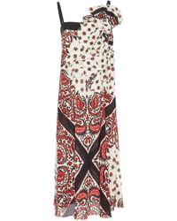 RED Valentino | Gathered Bandana Print Dress | Lyst