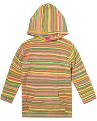 The Elder Statesman Sundown Oversized Cashmere Hoodie - Multicolour