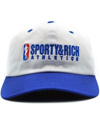 Sporty & Rich Embroidered Cotton-twill Baseball Cap - White